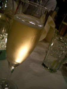 a lil' bubbly to toast the bride and groom