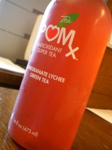 POMx Pomegranate Lychee Green Tea - not so good...