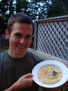 [Matt with risotto photo]